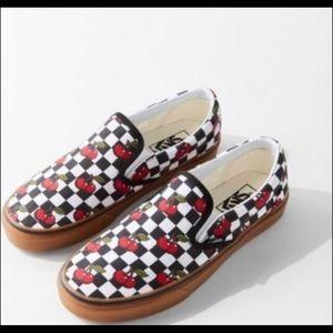 Cherry Checkered Vans